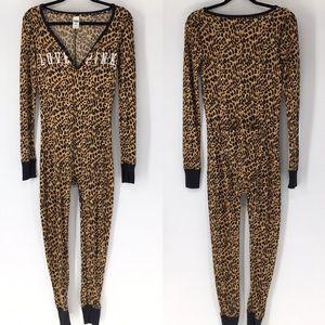 PINK Victoria's Secret RARE Leopard Print Onesie